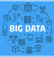 linear big data vector image