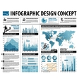 business infographics web design for workflow vector image