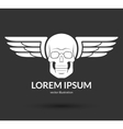Skull with wings logo emblem icon symbol sign vector image