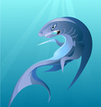 big irritating shark vector image