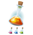 magic potion flask with elixir for game ui vector image