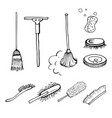 set of brushes vector image