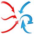 3D Arrows 1 vector image