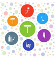 7 hose icons vector image vector image
