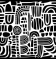abstract black and white mosaic shapes seamless vector image vector image