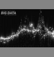 abstract monochrome financial big data vector image vector image