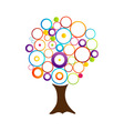 Abstract tree with circles vector image vector image