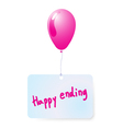 balloon with happy ending tag vector image vector image