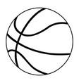 basketball ball simple flat icon vector image vector image