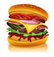 big bacon burger vector image vector image