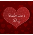 Big Valentines Day Heart Banner with Pattern vector image vector image