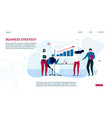 business strategy landing page for data analysis vector image vector image
