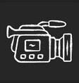 camera chalk icon camcorder videotaping video vector image vector image