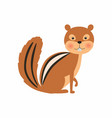 cartoon chipmunk isolated vector image vector image