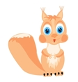 Cartoon of the squirrel on white background vector image