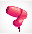 cartoon pink hair dryer vector image
