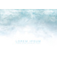 clouds and smoke on white background vector image vector image