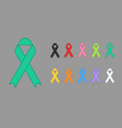 colorful awareness ribbons design element banner vector image