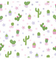colorful cacti party seamless pattern vector image vector image