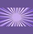 comic light explosive purple background vector image