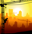 construction city vector image vector image