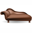 couch on white background vector image vector image
