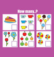 counting educational children game math kids vector image vector image