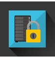 data center protection cyber security vector image vector image