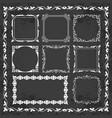 decorative calligraphic frames on chalkboard vector image vector image
