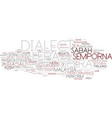 dialect word cloud concept vector image vector image