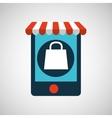 digital e-commerce bag gift design icon vector image vector image
