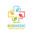 eco medical organic logo vector image vector image