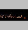 essen light streak skyline vector image vector image