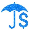 Financial Umbrella Grainy Texture Icon vector image vector image