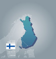 finland information map vector image