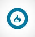 fire bold blue border circle icon vector image vector image