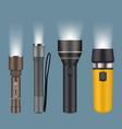 flashlights electric handy flashlights for vector image