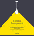 flat light bulb with sample text vector image vector image
