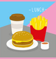 food meal lunch dairy eat drink menu vector image vector image