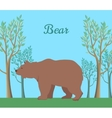 Funny Brown Bear vector image vector image