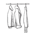 Hand drawn wardrobe sketch Autumn clothes vector image vector image