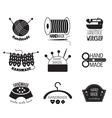 Handmade Monochrome Logos vector image vector image