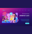 health and nutrition workshop concept landing page vector image vector image