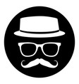 hipster icon stamp vector image