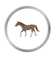 Horse icon in cartoon style isolated on white vector image