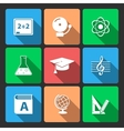 Iconset for educational app vector image vector image