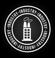 industry icon vector image vector image