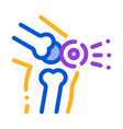 knee pain leg bones orthopedic element icon vector image