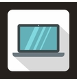 Laptop icon in flat style vector image vector image