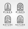 line art tree nature logo abstract design vector image vector image